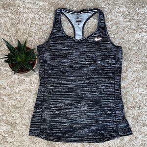 Nike Running Black and White Tank Top